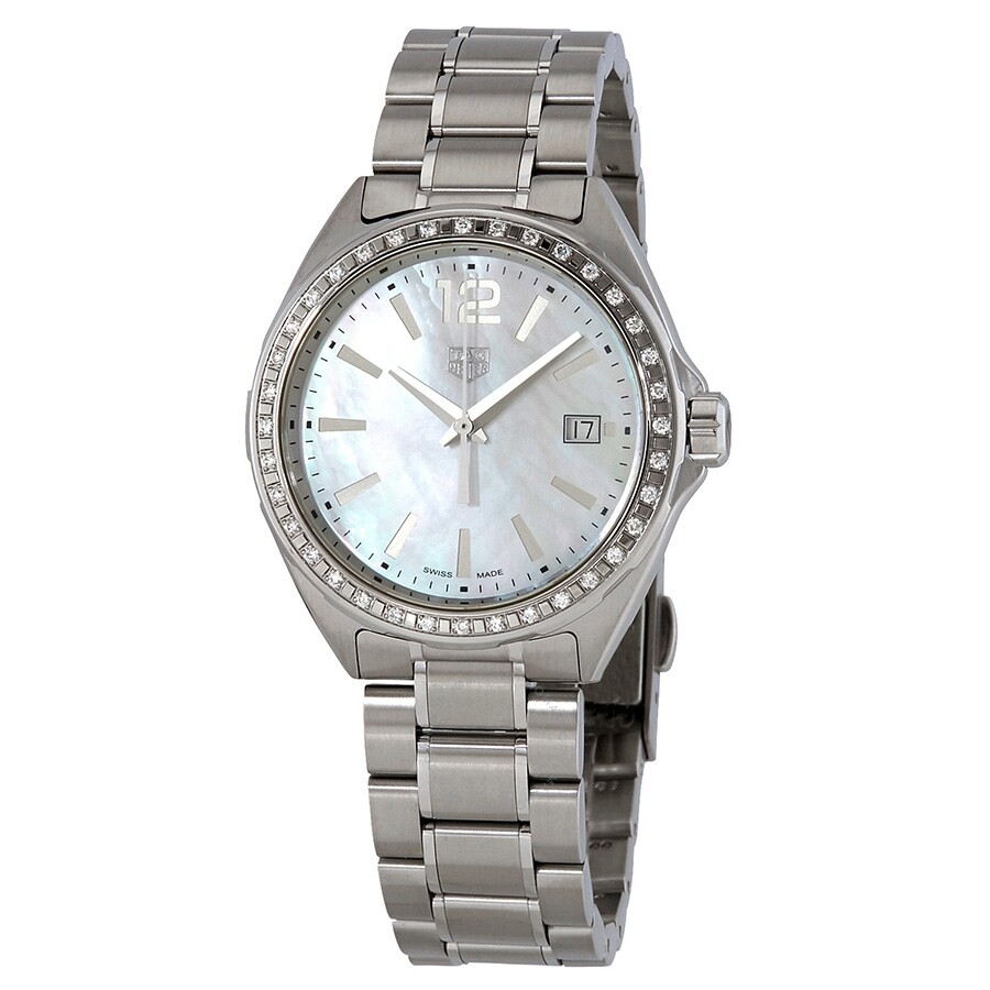 Tag Heuer Formula 1 Diamond White Mother Of Pearl Dial Ladies Watch Wbj131a Ba0666
