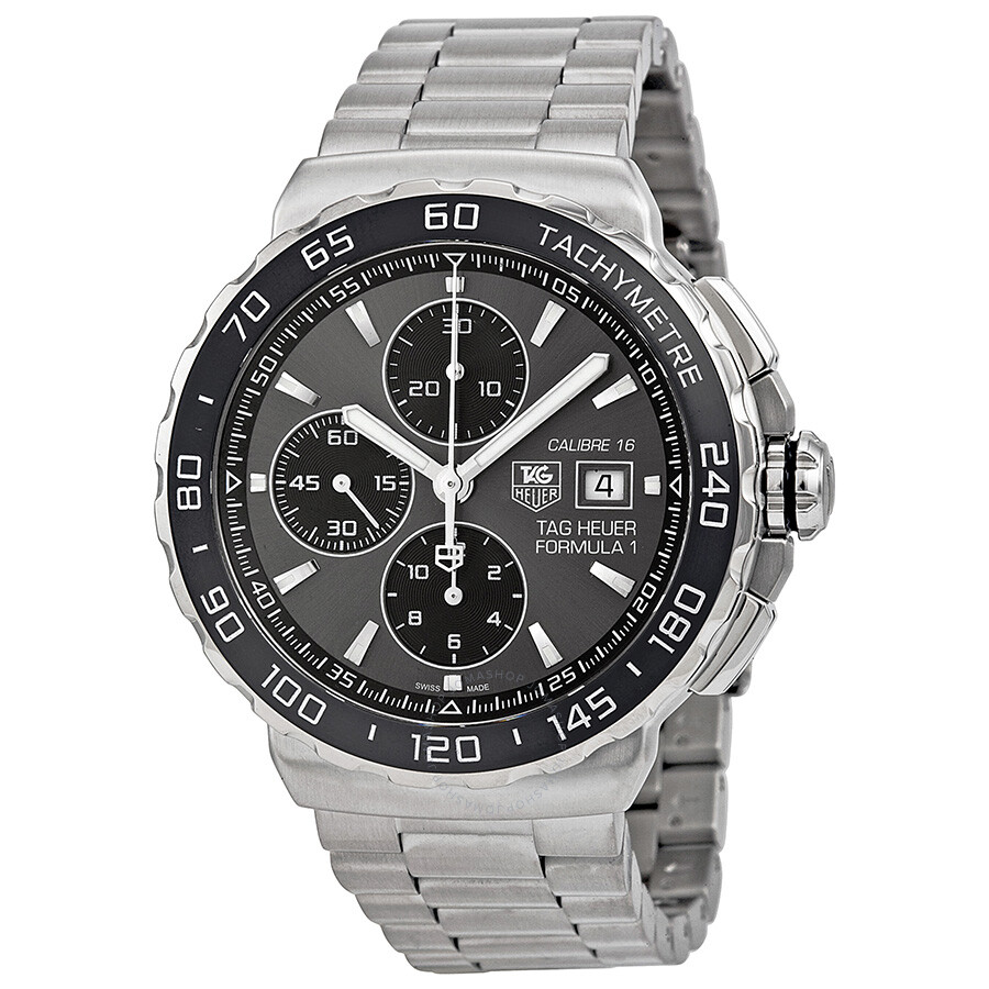 Tag Heuer Formula 1 Grey Dial Stainless Steel Men's Watch ...