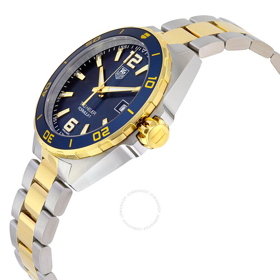42117b59f75 BB0879 Tag Heuer Formula 1 Navy Blue Dial Two-tone Men s Watch WAZ1120.