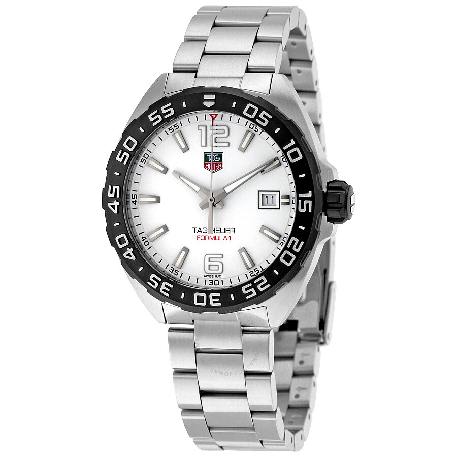 tag heuer formula 1 white dial men 39 s watch waz1111 ba0875. Black Bedroom Furniture Sets. Home Design Ideas