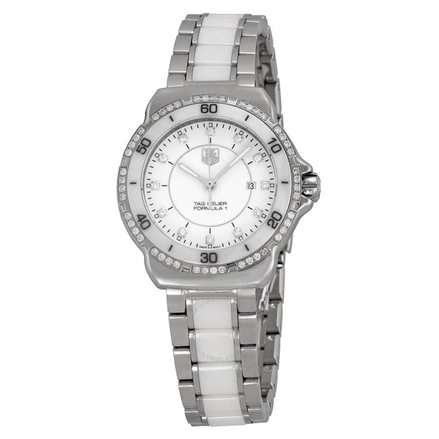 2af1f250be5c Tag Heuer Formula 1 White Diamond Dial Ladies Watch WAH1313.BA0868 ...