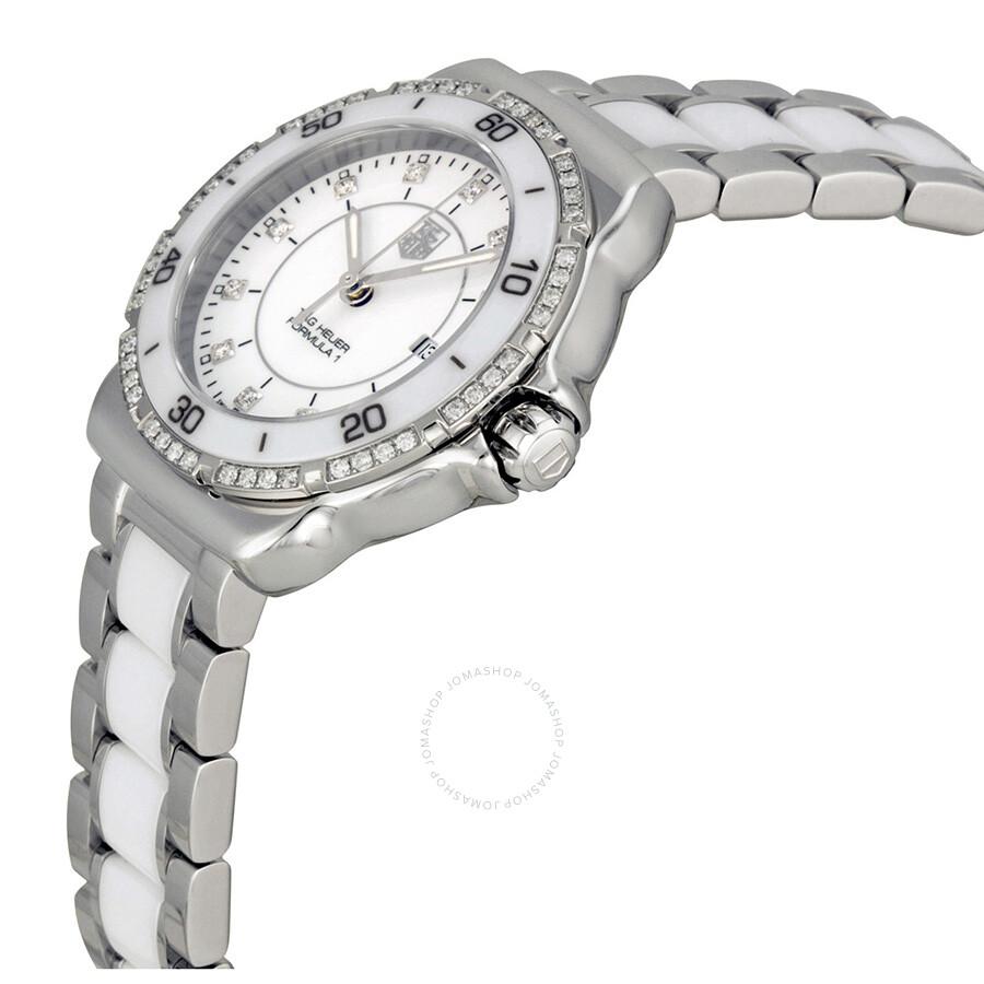 1ae0d4c50a5 Tag Heuer Formula 1 White Diamond Dial Ladies Watch WAH1313.BA0868 ...