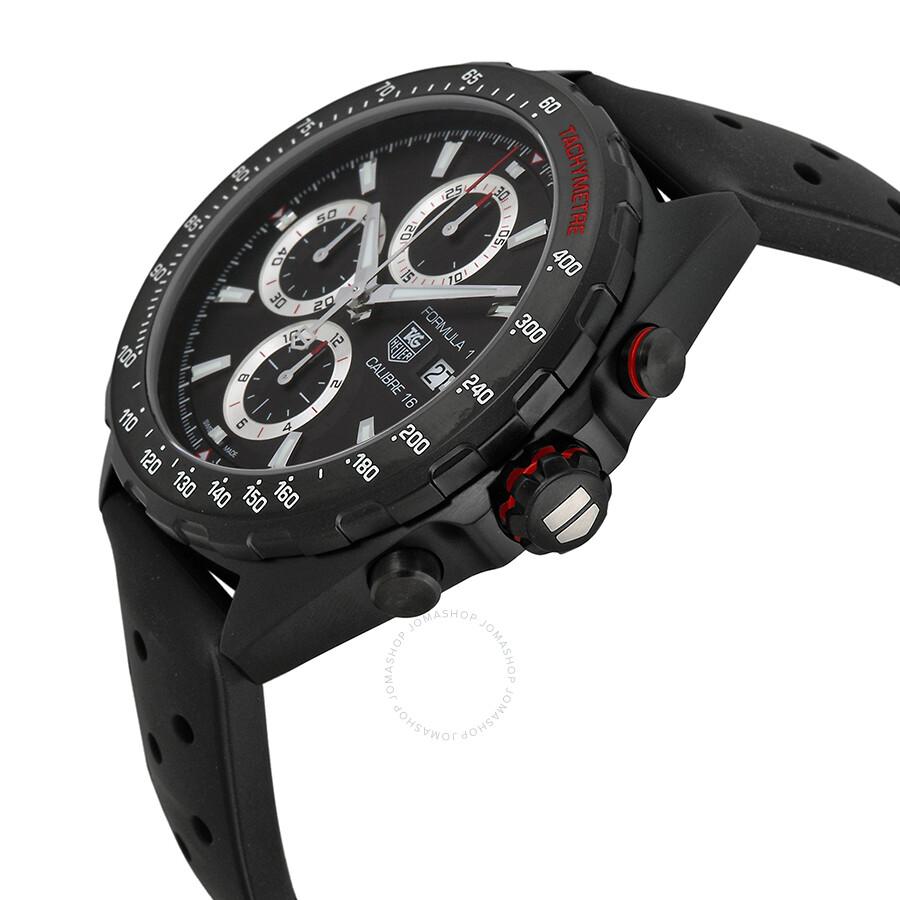 5d2eb2cbf9d FT8024 Tag Heuer Formula One Chronograph Black Dial Men s Watch CAZ2011.