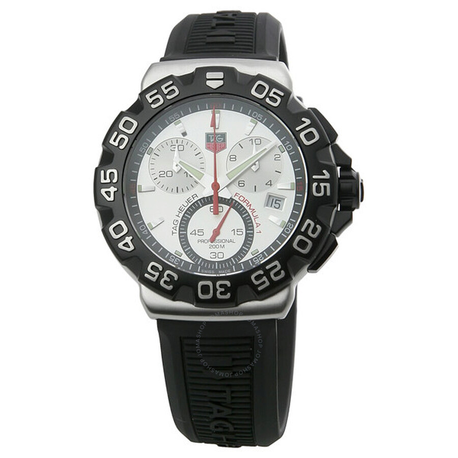 7a02d87661b Tag Heuer Formula One Chronograph Steel Black Rubber Men s Watch CAH1111.