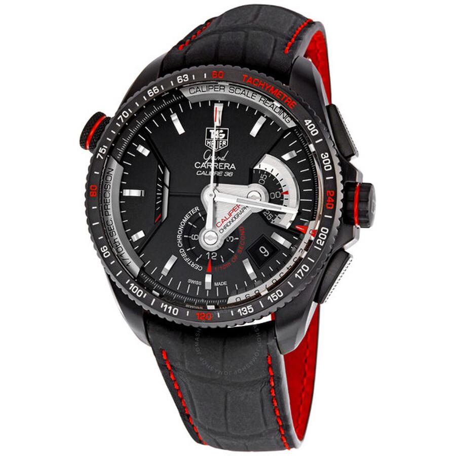 c28e6352b7dd Tag Heuer Grand Carrera Chronometer Men s Watch CAV5185.FC6237 ...