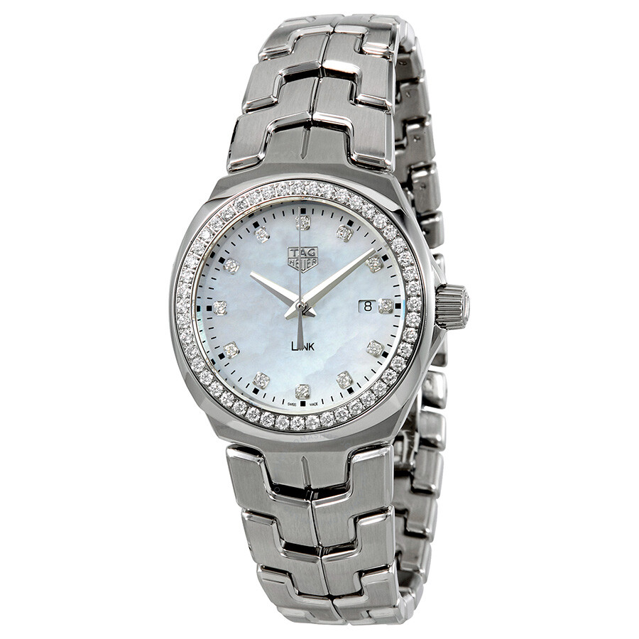 Tag heuer lady link mother of pearl dial ladies watch wbc1316 ba0600 link tag heuer for Tag heuer women