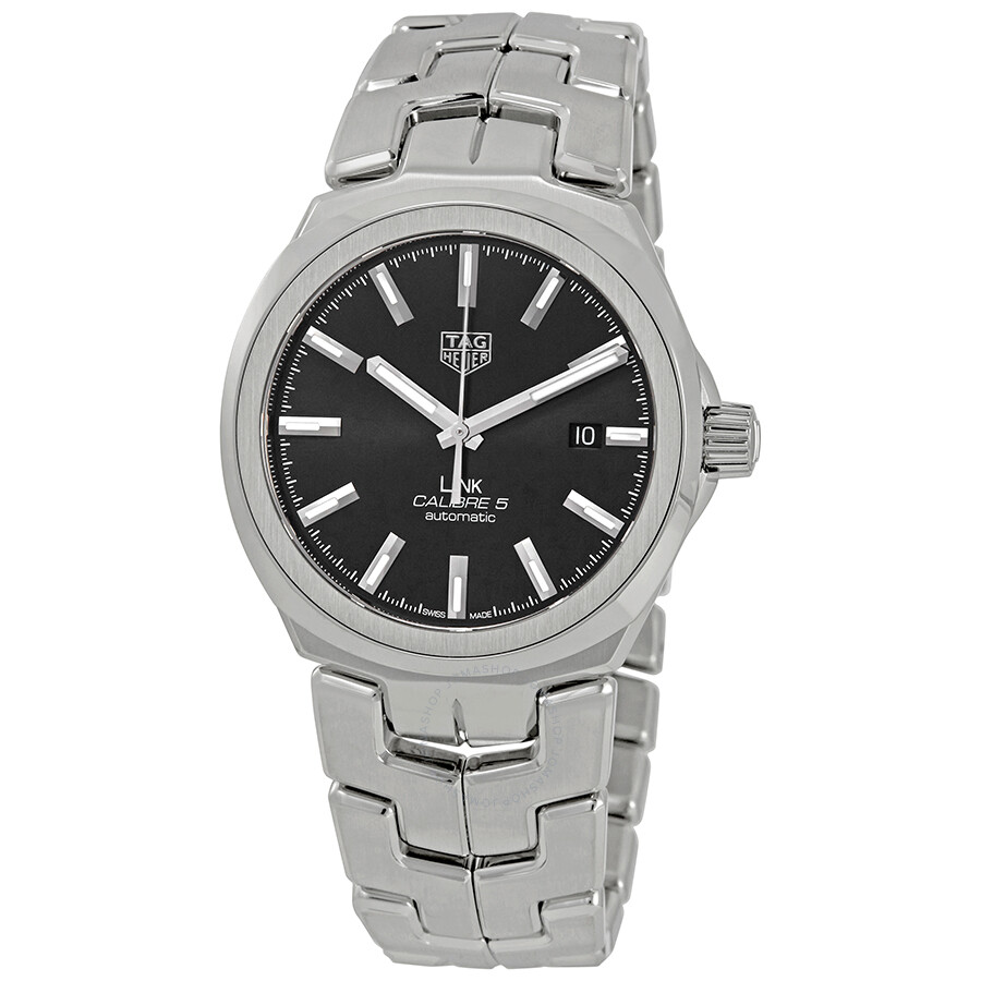 Tag heuer link automatic black dial men 39 s watch wbc2110 ba0603 link tag heuer watches for Tag heuer d link