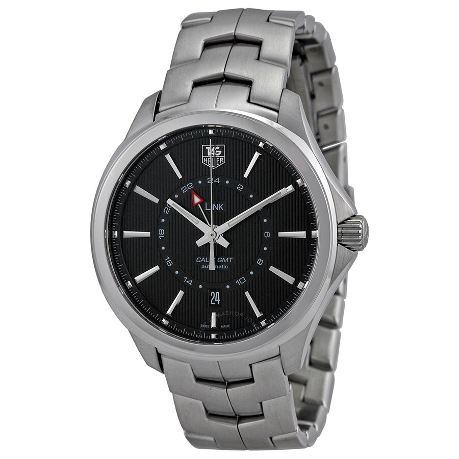 Tag heuer link automatic black dial stainless steel men 39 s watch wat201aba0951 link tag heuer for Tag heuer d link