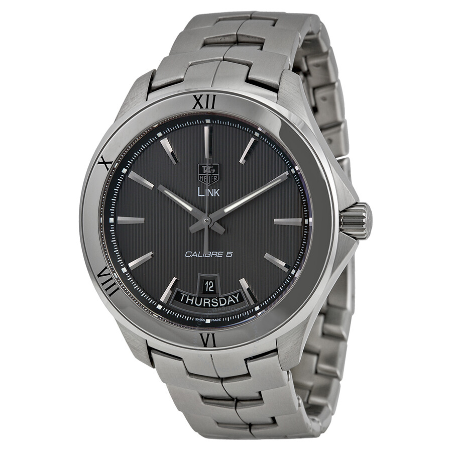 Tag heuer link automatic grey dial men 39 s watch wat2015 ba0951 link tag heuer watches for Tag heuer automatic