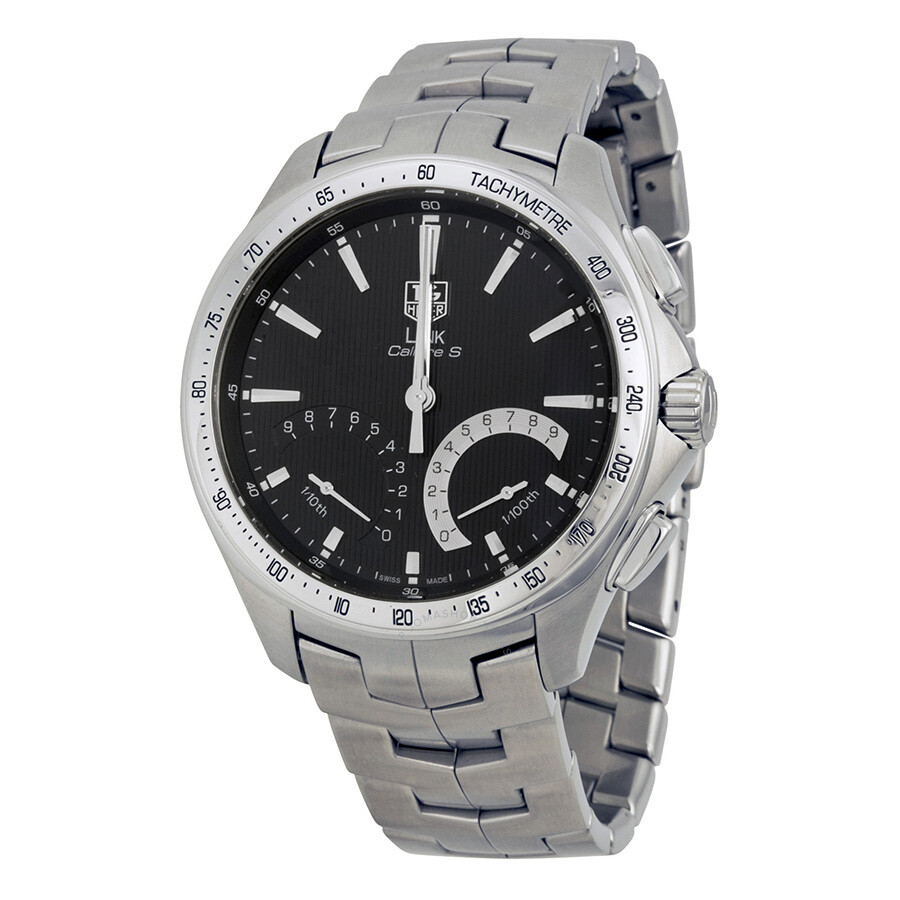 Tag heuer link calibre s chronograph hybrid men 39 s watch cat7010 ba0952 link tag heuer for Tag heuer chronograph