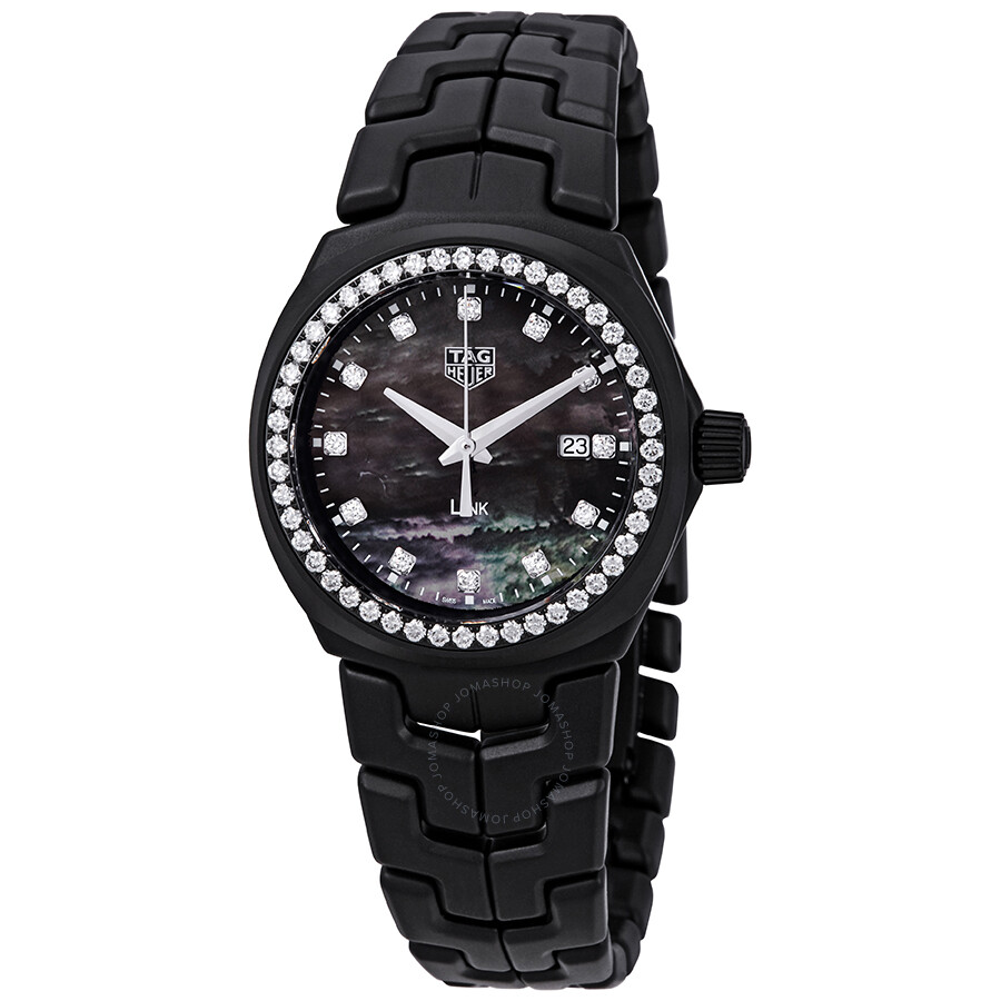 Tag Heuer Link Black Mother Of Pearl Diamond Dial Ladies Limited Edition Watch Wbc1394 Bh0745