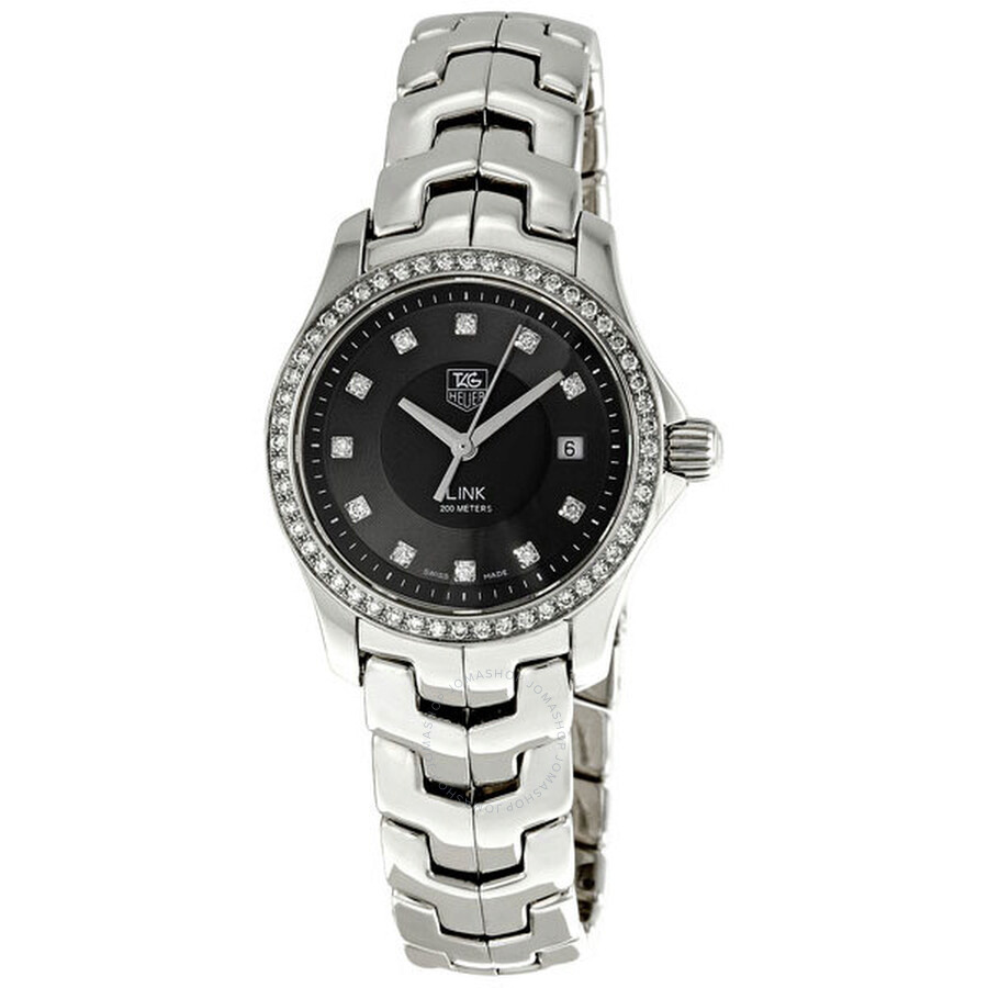 tag heuer link diamond ladies watch wjf131a ba0572 link tag heuer watches jomashop