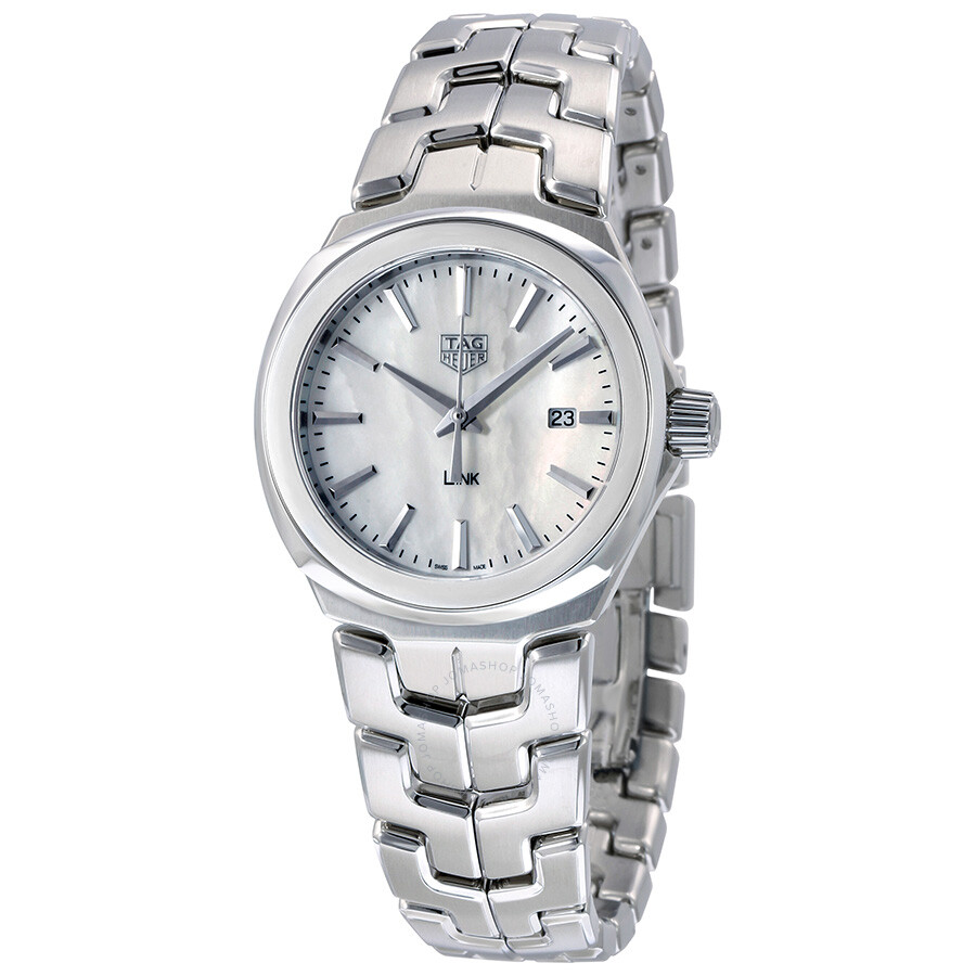 Tag heuer link mother of pearl dial ladies watch wbc1310 ba0600 link tag heuer watches for Tag heuer d link