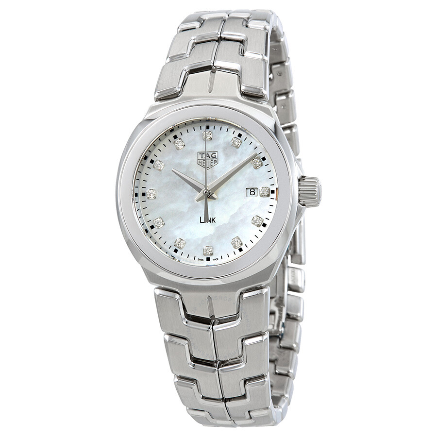 Tag heuer link mother of pearl diamond dial ladies watch wbc1312 ba0600 link tag heuer for Tag heuer women