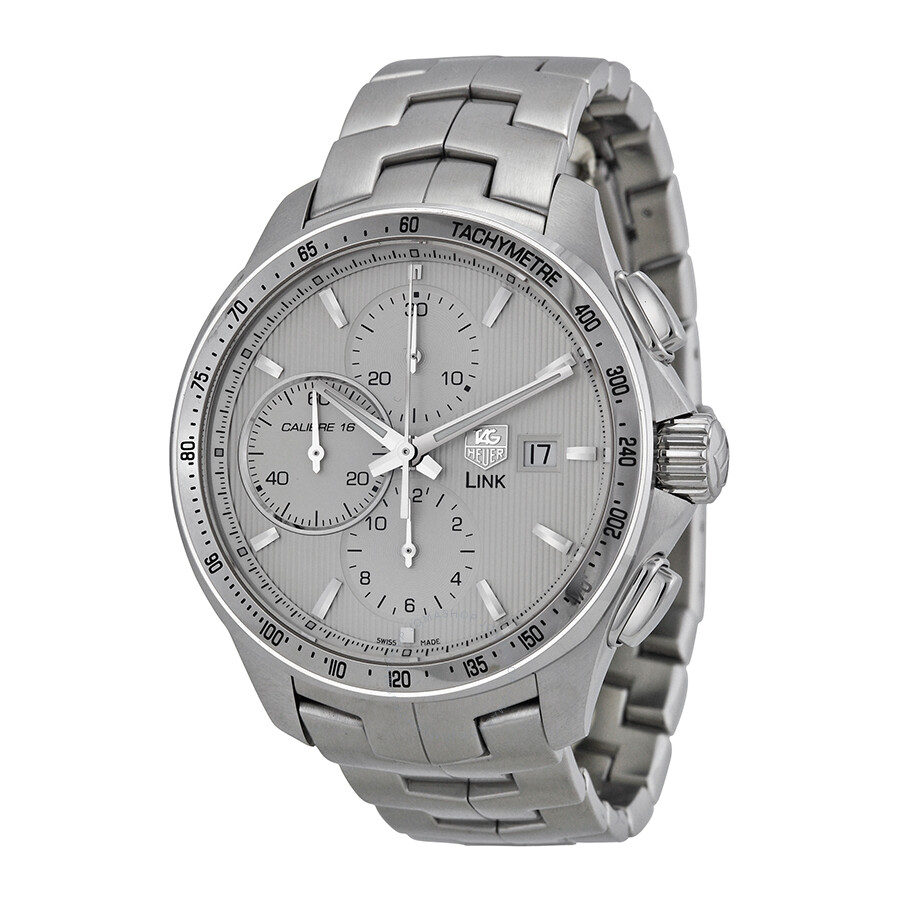 Tag heuer link silver dial chronograph automatic men 39 s watch cat2011 ba0952 link tag heuer for Tag heuer d link