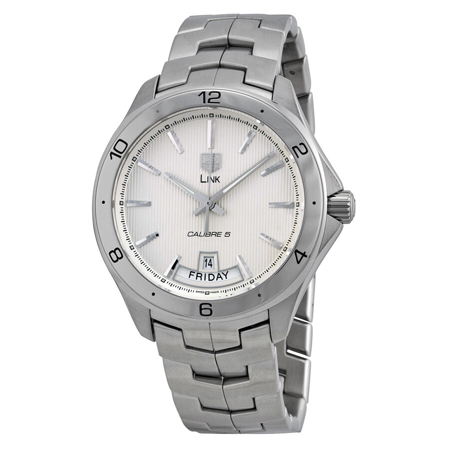 85e20b26876 Tag Heuer Link Silver Dial Stainless Steel Automatic Men s Watch WAT2011.