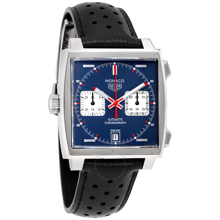 tag heuer monaco automatic denim blue dial men 39 s watch. Black Bedroom Furniture Sets. Home Design Ideas