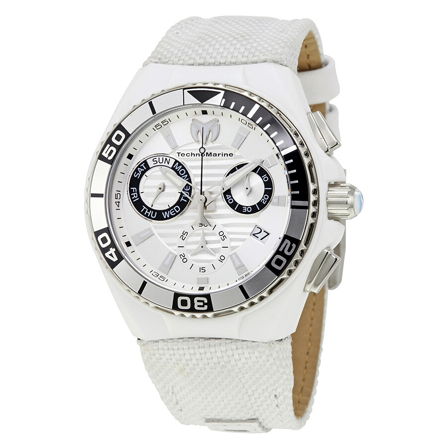 d19a9fb9c2 Technomarine Cruise Locker Chronograph Silver Dial Men s Watch 115164