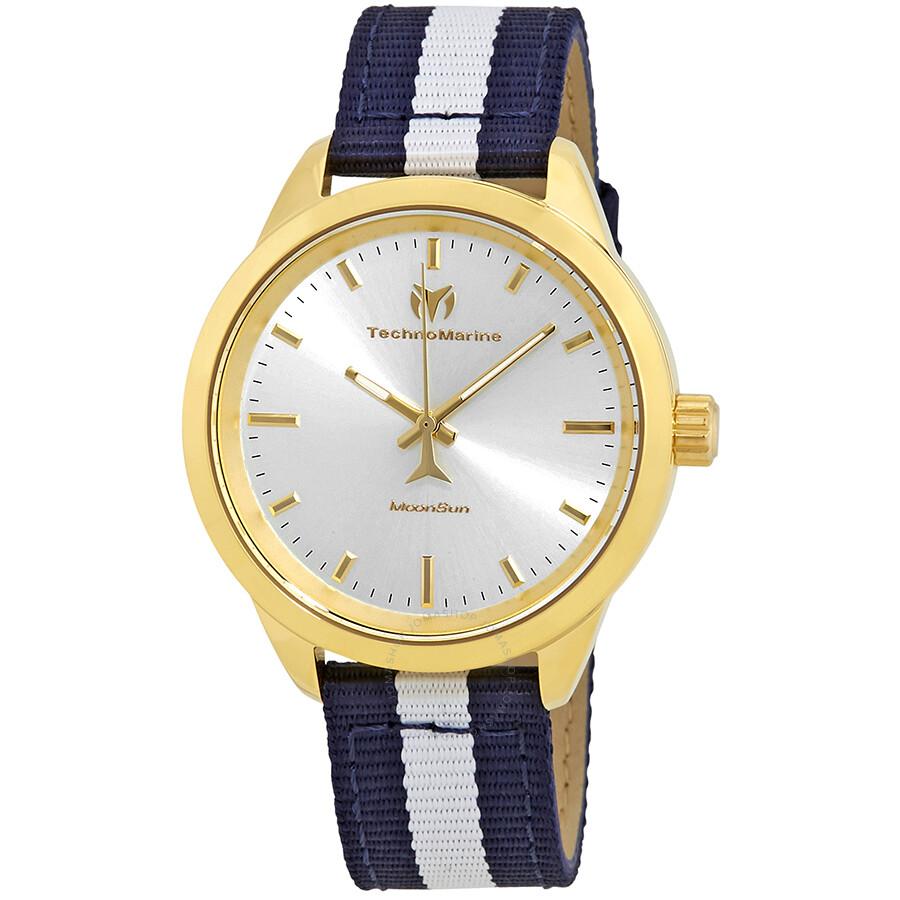 Technomarine moonsun gold dial ladies watch 117006 technomarine watches jomashop for Gold dial ladies watch