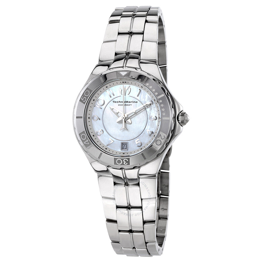 Technomarine sea pearl oyster mother of pearl dial ladies watch 715012 sea pearl for Pearl watches
