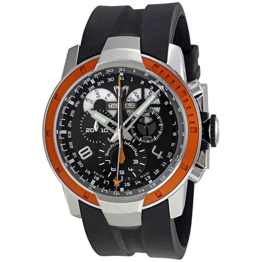 technomarine uf6 black chronograph s ufc19