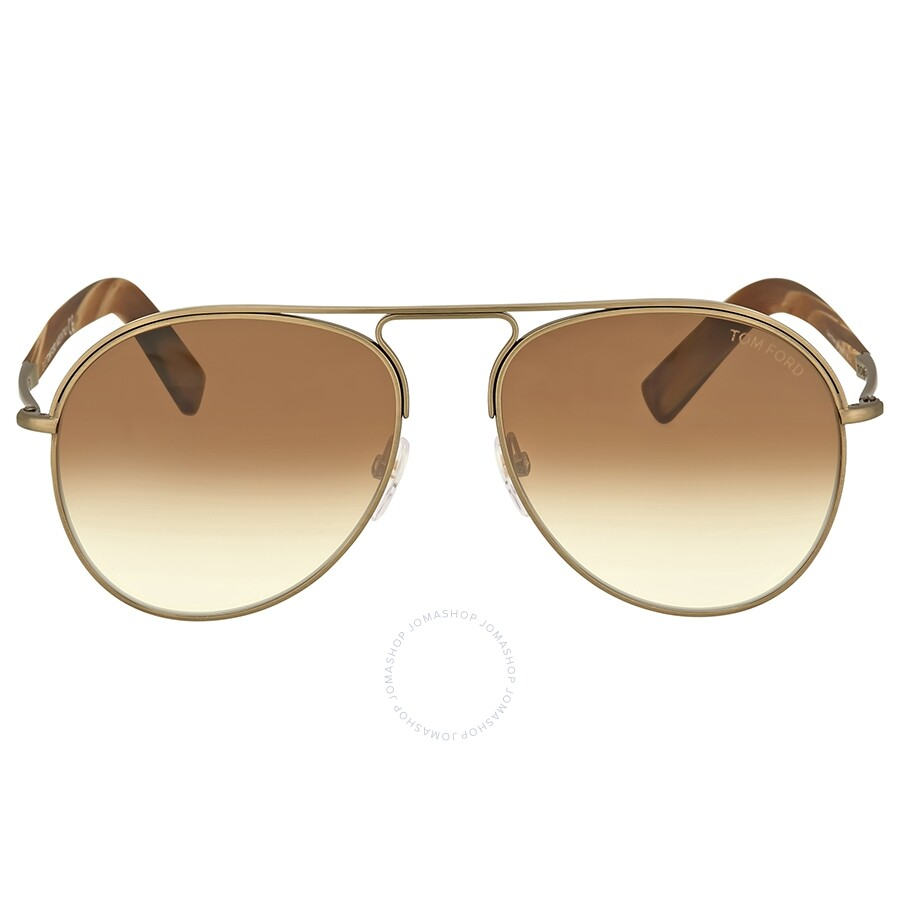 23272d56a81c2 Tom Ford Cody Brown Gradient Aviator Sunglasses Item No. FT0448 33F