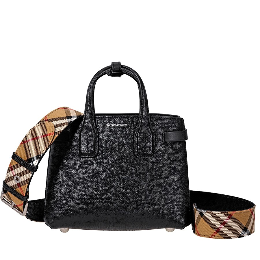 c7d6181a03 The Baby Banner in Leather and Vintage Check- Black - Burberry ...