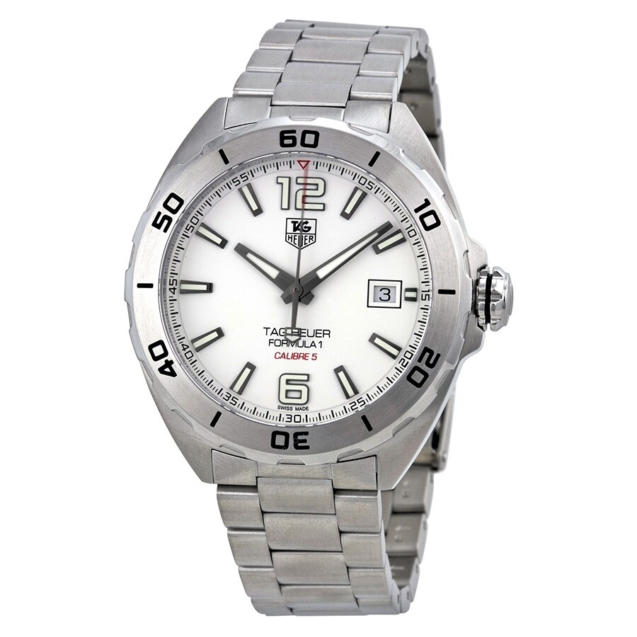 Tag Heuer Formula 1 Automatic White Dial Men's Watch ...