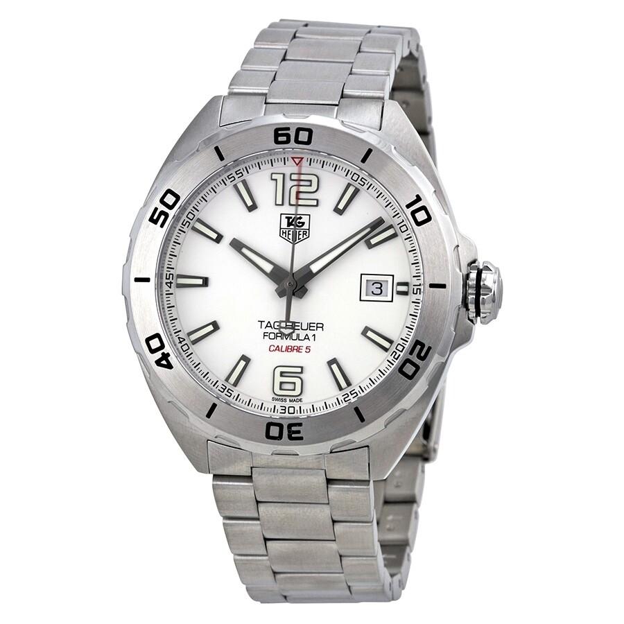tag heuer formula 1 automatic white dial men 39 s watch waz2114 ba0875 formula 1 tag heuer. Black Bedroom Furniture Sets. Home Design Ideas