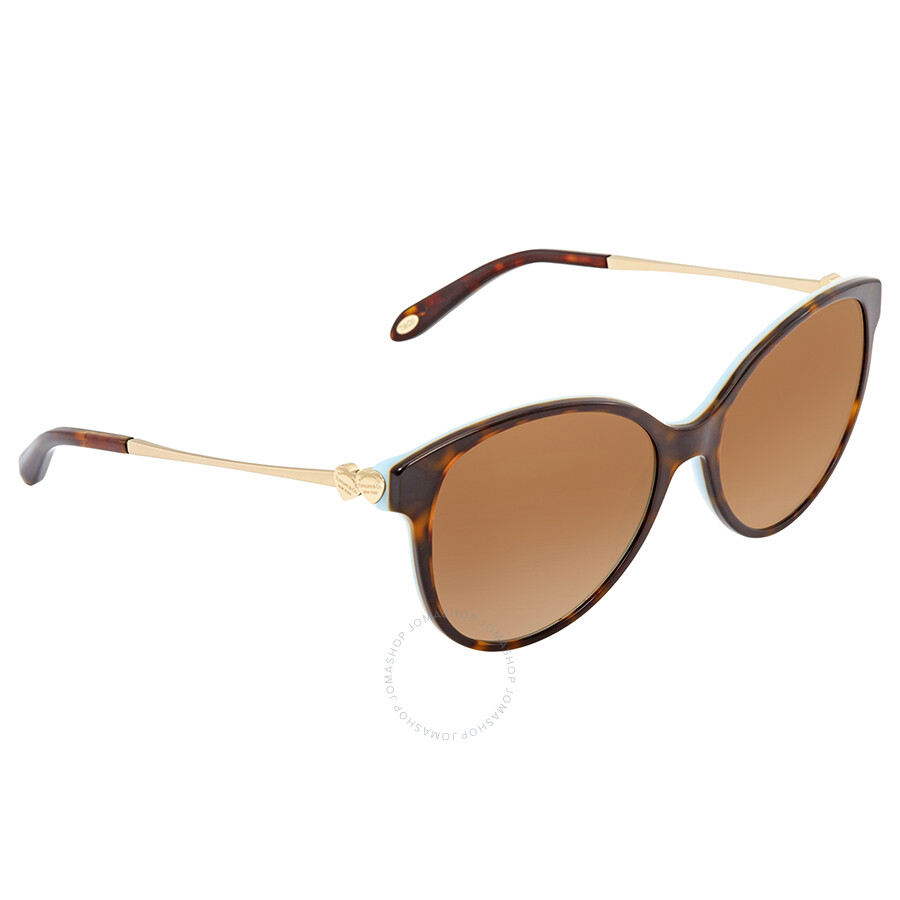 489d347c3874 Tiffany Brown Gradient Round Sunglasses TF4127 81343B 56 ...