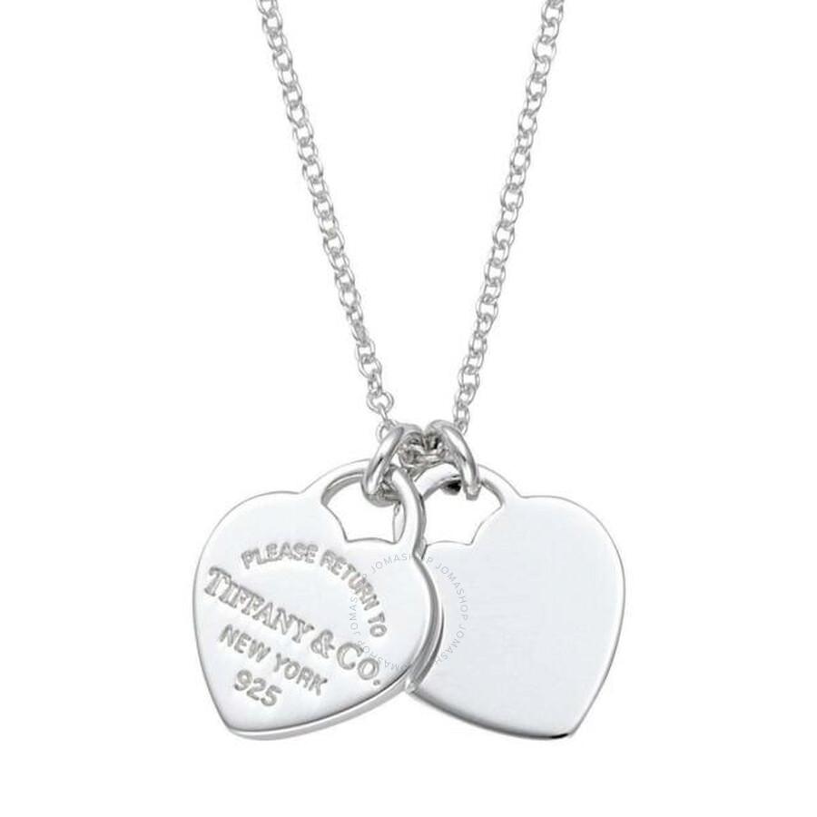 Tiffany Co Ladies Return To Tiffany Mini Double Heart Tag Pendant Tiffany Co Ladies Jewelry Jewelry Jomashop