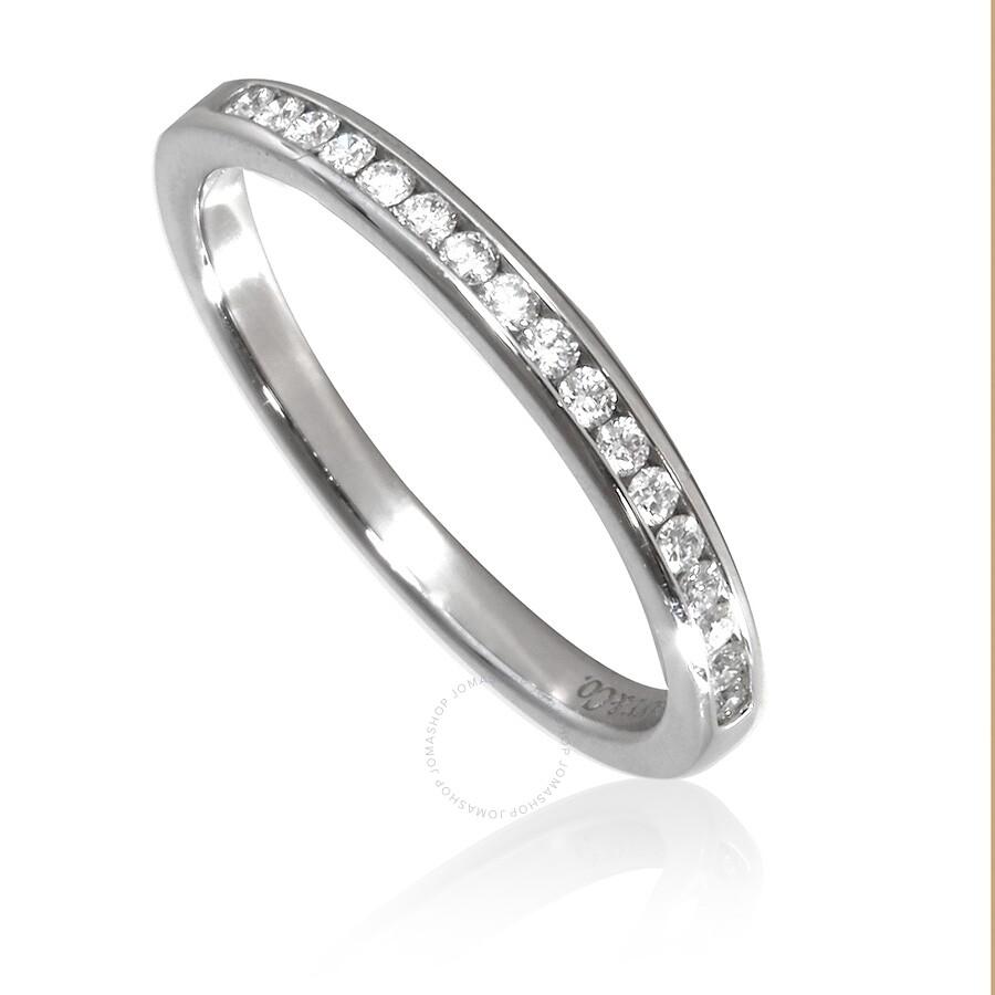 Tiffany Ladies Tiffany Diamond Wedding Band Size 7 Tiffany Co