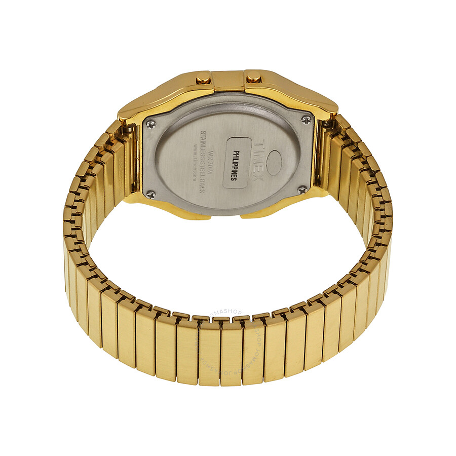 cddbc7676 ... Timex Classic Digital Gold-tone Expansion Band Men's Watch T78677 ...