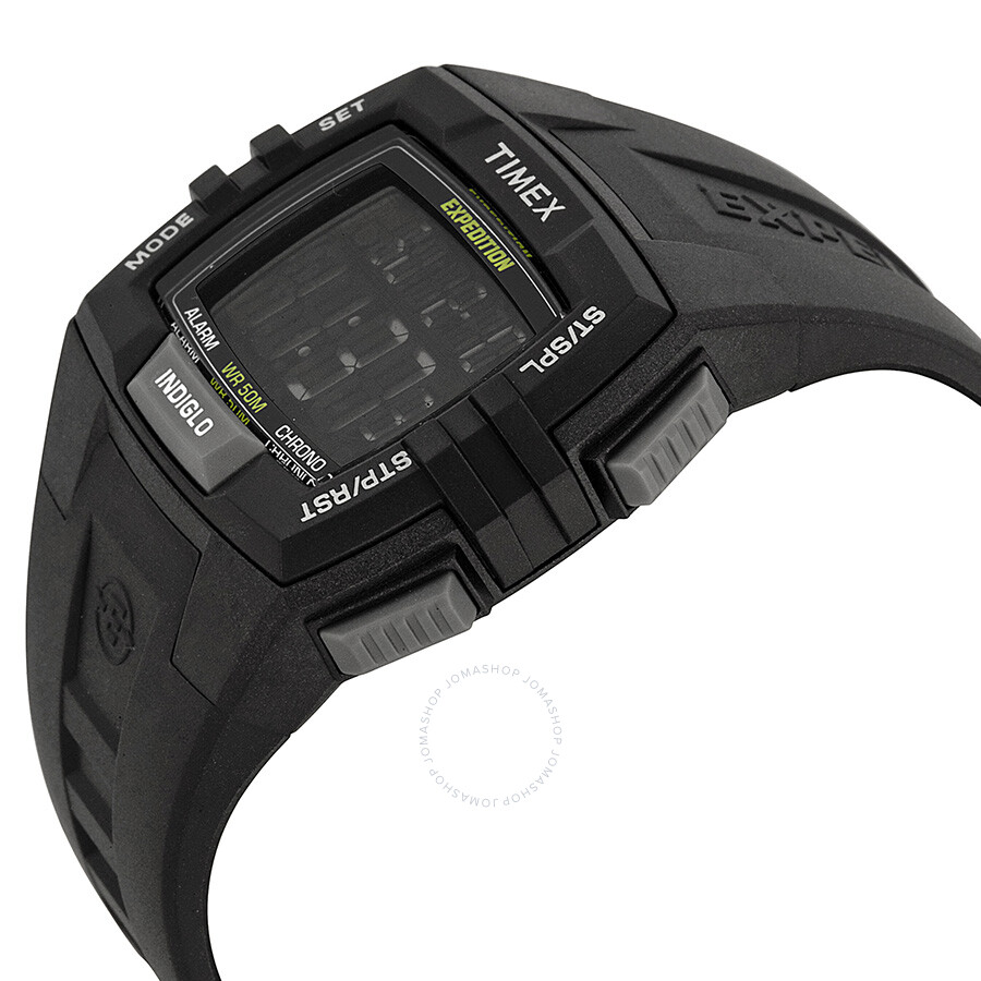 a9fa1c1c4 ... Timex Expedition Chronograph Digital Dial Black Resin Men's Watch  T49900 ...