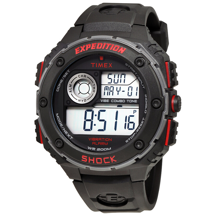 Timex Expedition Shock Digital Black Resin Men's Watch ... |Timex Expedition Digital Watches Men