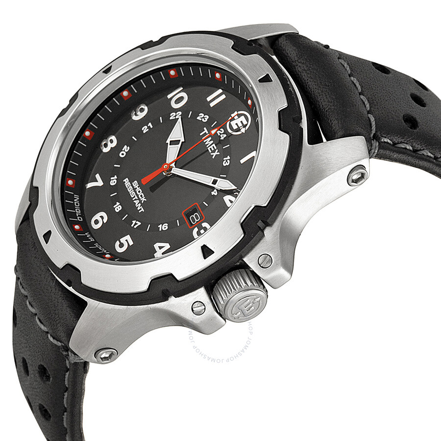 Timex Expedition Rugged Field Black Dial Black Leather Men