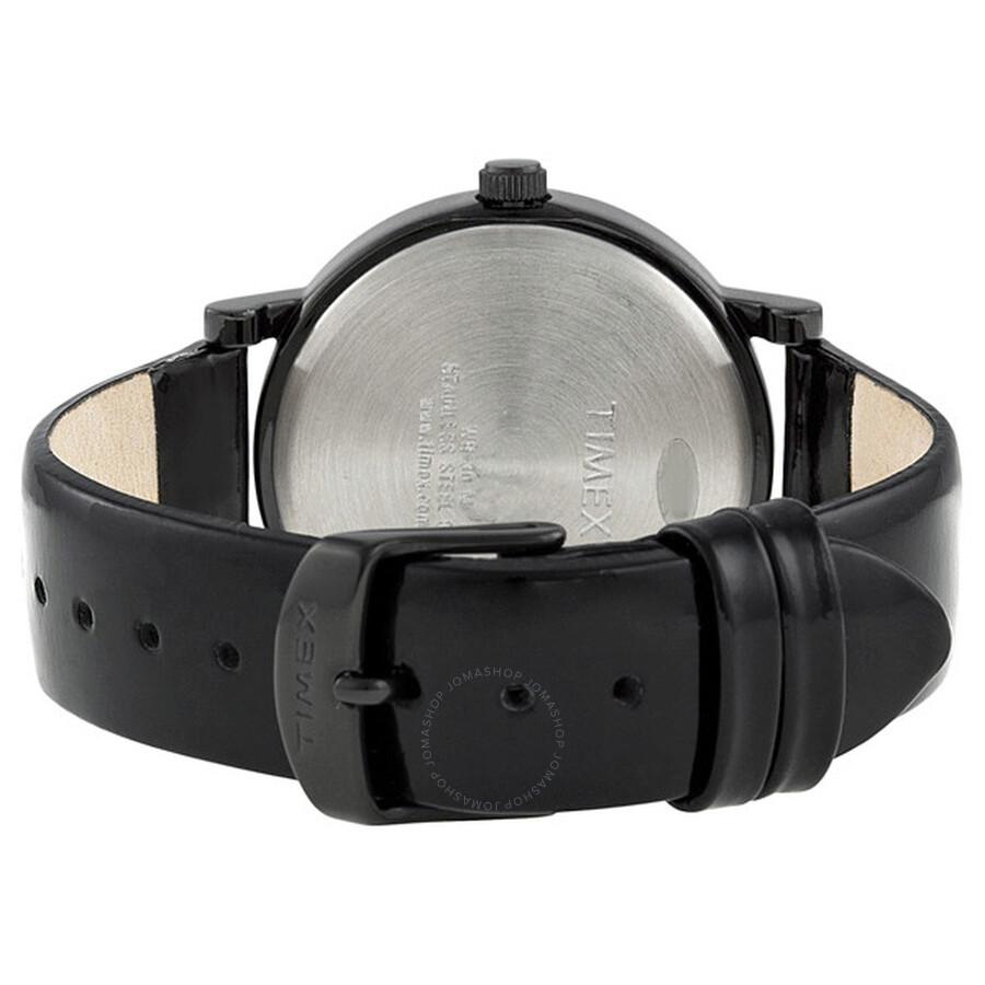 66458b67772b8 Timex Heritage Easy Reader Black Leather Strap Unisex Watch T2N790 ...