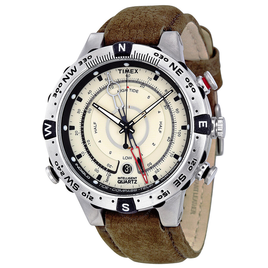 Timex iq temperature compass men 39 s watch t2n721 timex watches jomashop for Watches with compass