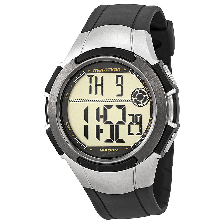 Timex Marathon Digital Grey Resin Men's Watch T5K769 ...
