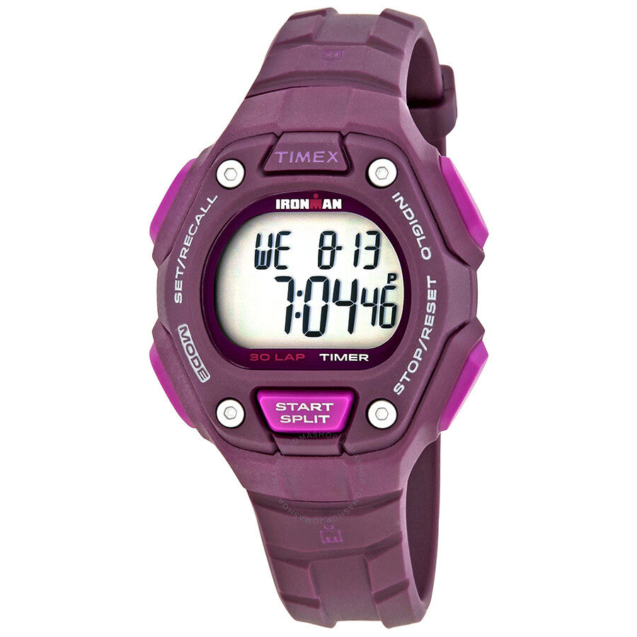 22663f3fa8bf Timex Men s Ironman Classic 30 Lap Plum Resin Ladies Watch TW5K89700 ...