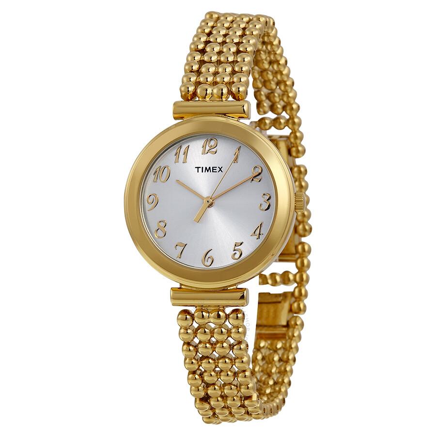timex silver gold tone t2p205 timex