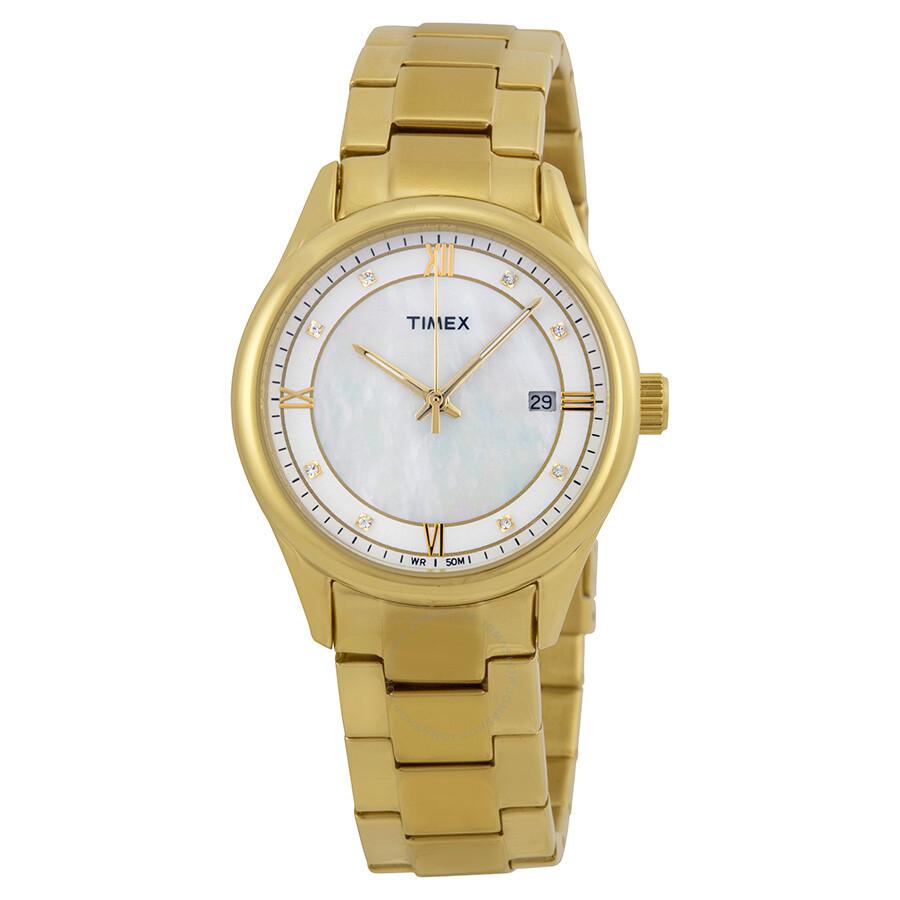 timex white gold tone unisex t2p148 timex