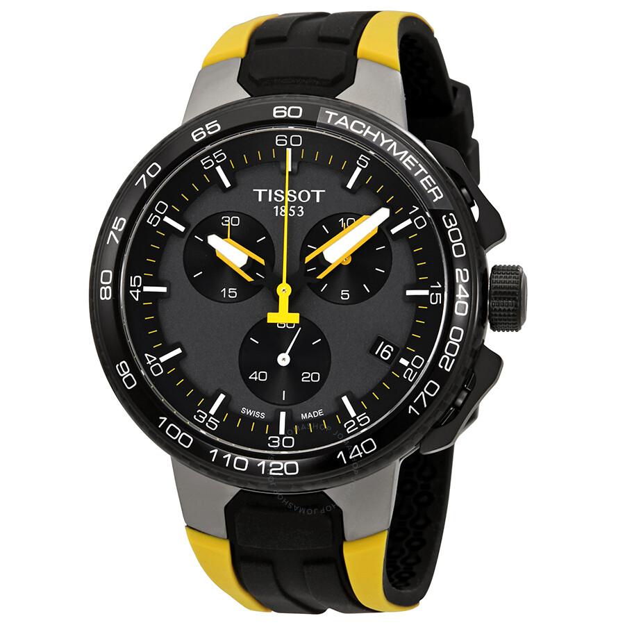Tissot T-Bike Chronograph Black Dial Men's Watch T111 417 37 441 00