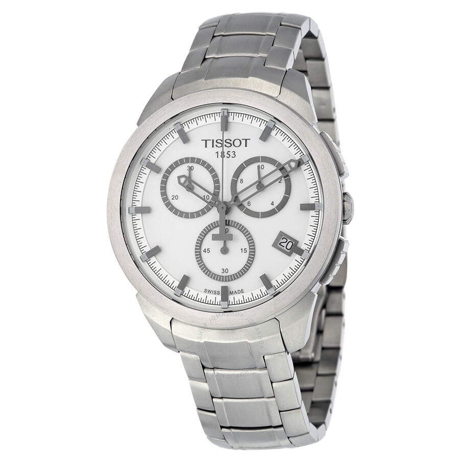 Tissot chronograph silver dial titanium men 39 s watch t0694174403100 t sport titanium t sport for Titanium watches