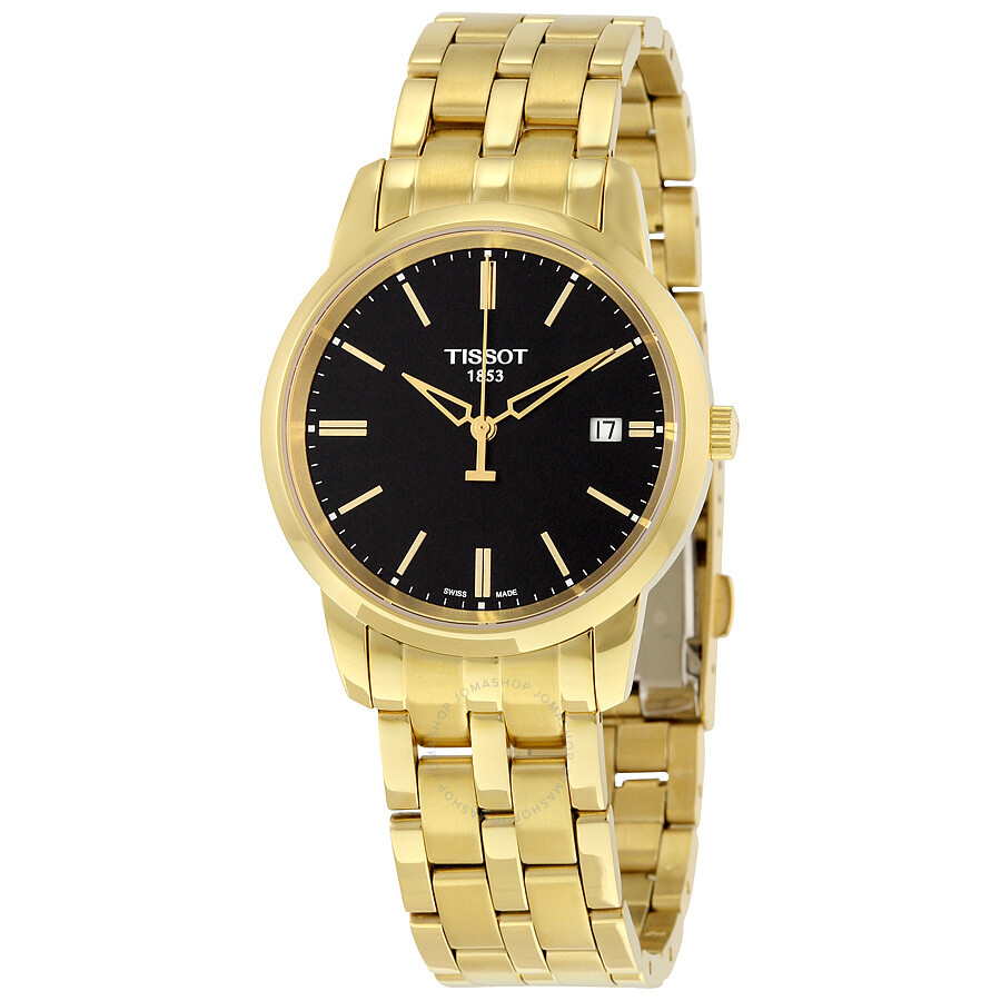 tissot classic dream black dial gold pvd watch. Black Bedroom Furniture Sets. Home Design Ideas