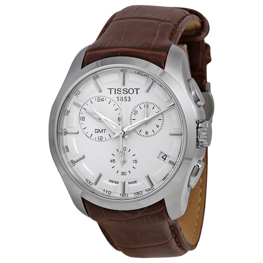 Tissot Couturier GMT White Dial Men's Watch T035.439.16 ...