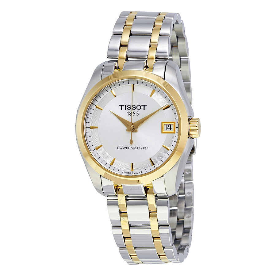 197c5b485 Tissot Couturier Powermatic 80 Silver Dial Two Tone Ladies Watch  T035.207.22.031.00 ...