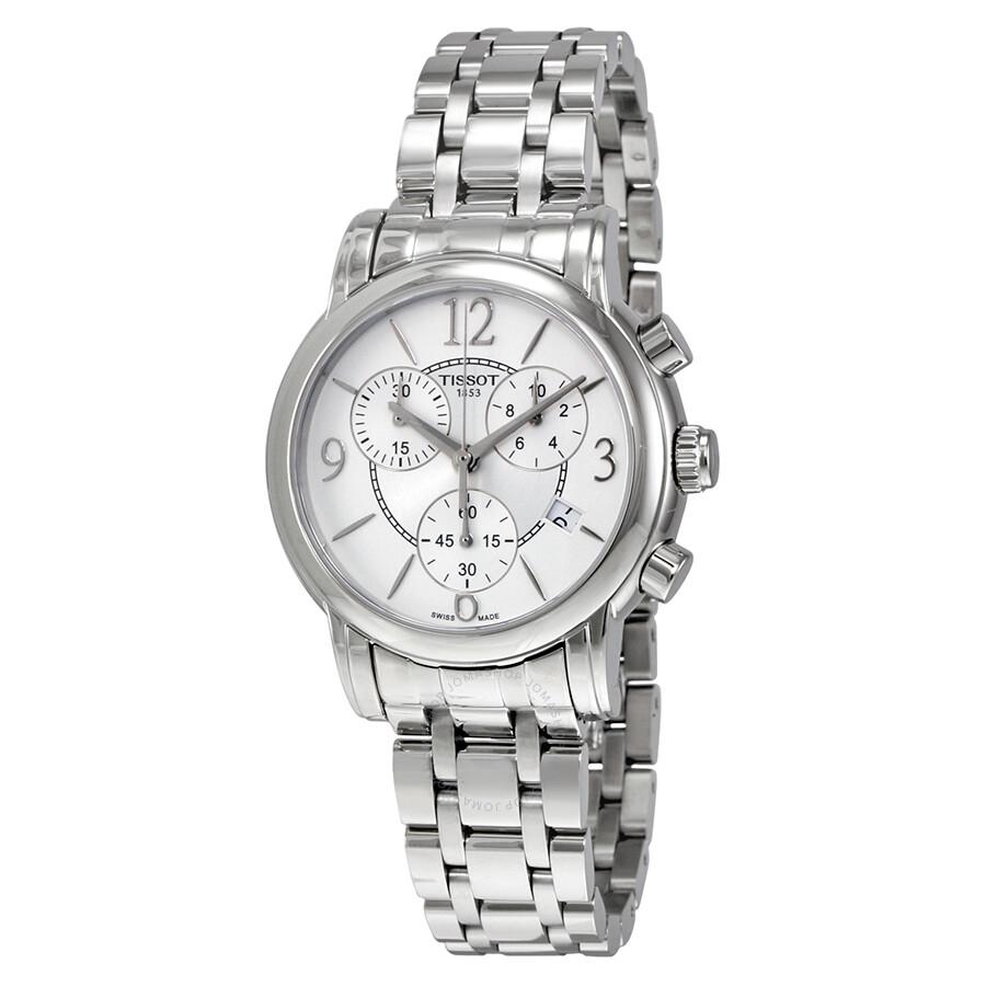 77180421482 Tissot Dressport Chronograph Silver Dial Ladies Sports Watch Item No.  T050.217.11.017.00