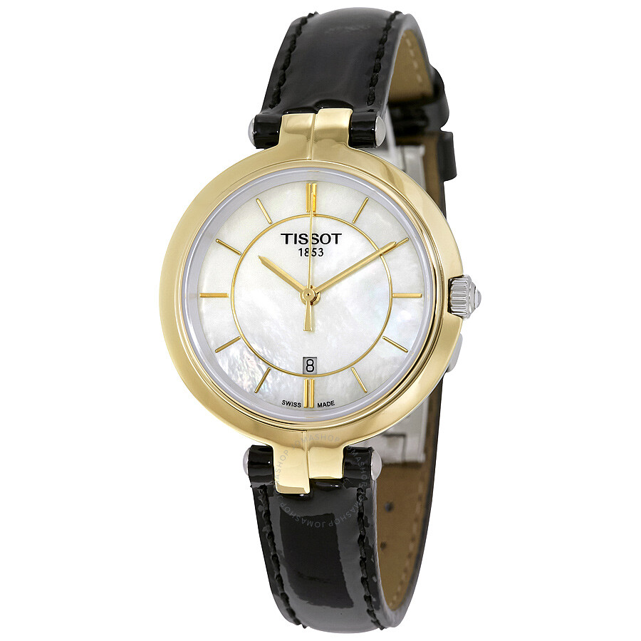 Tissot flamingo mother of pearl dial ladies watch flamingo t trend for Pearl watches