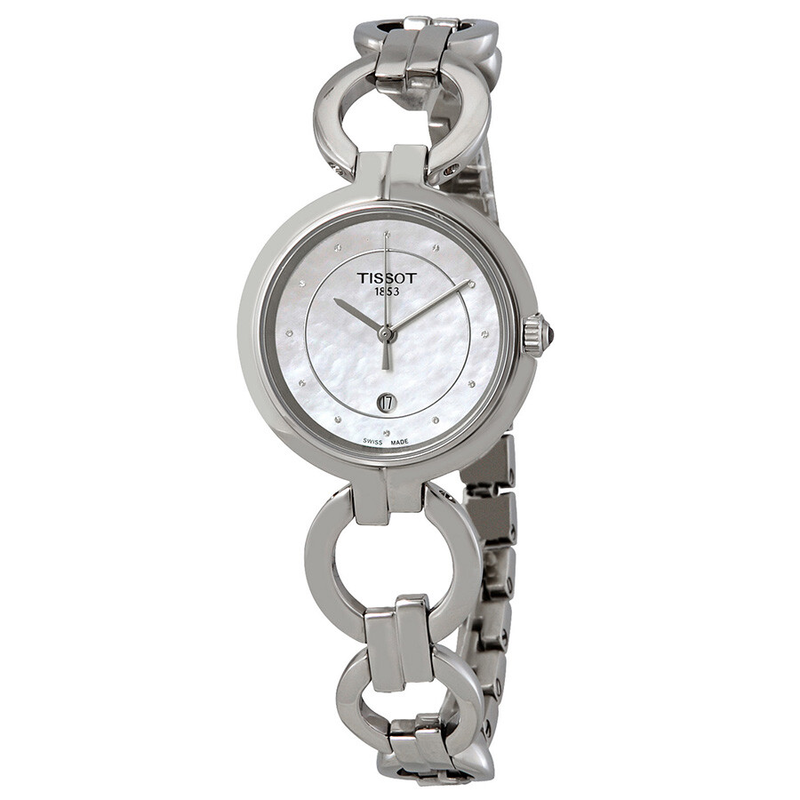 Flamingo Mother of Pearl Diamond Dial Ladies Watch T094.210.11.116.00
